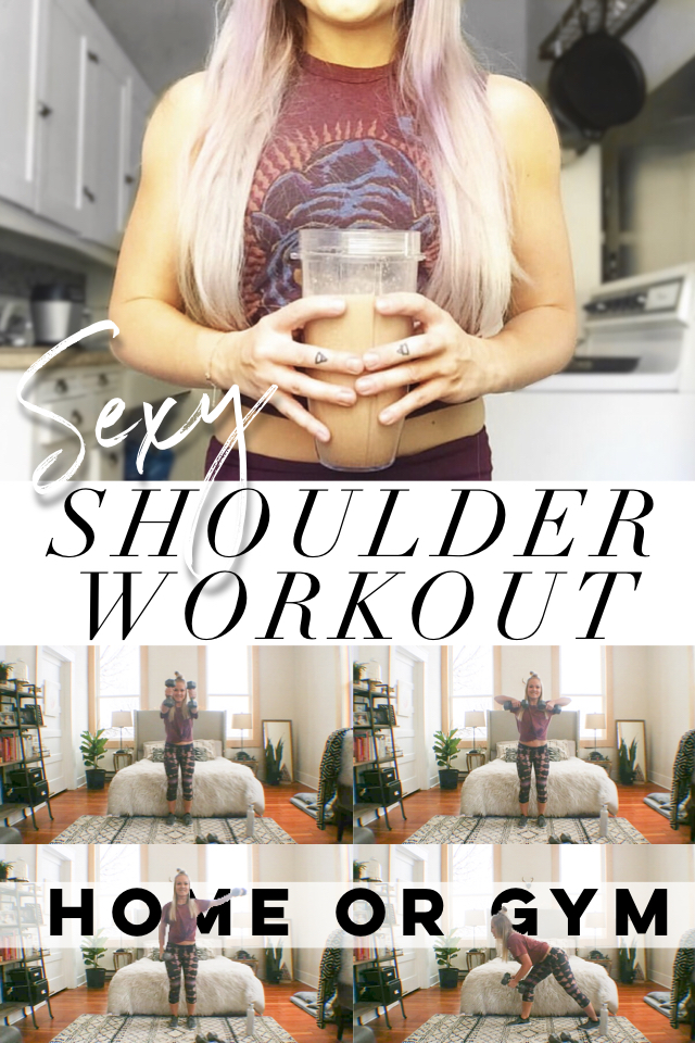 At Home Shoulder Workout For Sexy Shoulders
