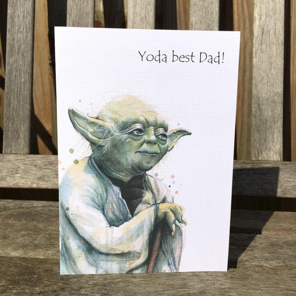 Yoda Fathers Day Birthday Card Star Wars Card