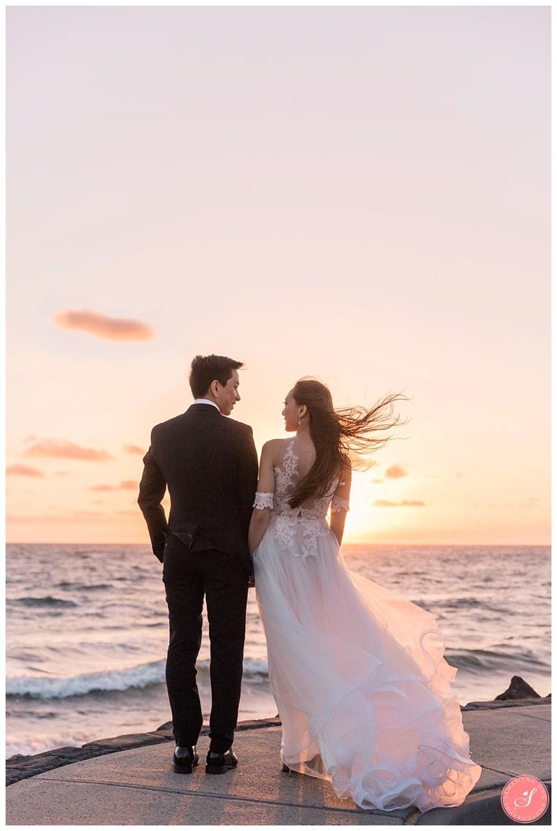 Melbourne Beach Wedding Photos Mornington Peninsula Sunset