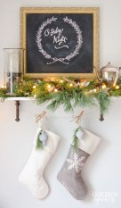 Christmas-decor-ideas-if-you-dont-have-a-fireplace.-Use-a-shelf-as-a-mantel.-2