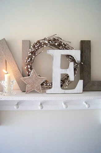 Christmas-decor-ideas-if-you-dont-have-a-fireplace.-Use-a-shelf-as-a-mantel.