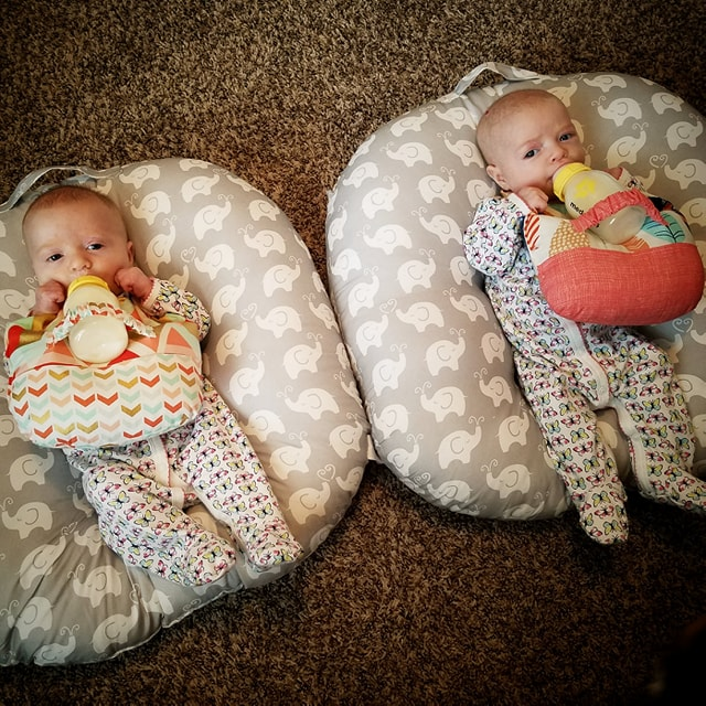 Twin Bottle Feeding Hack