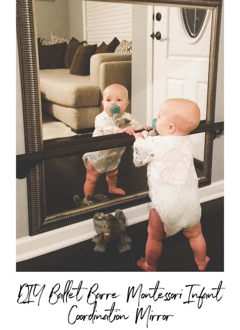 DIY Ballet Barre Montessori Infant Coordination Mirror