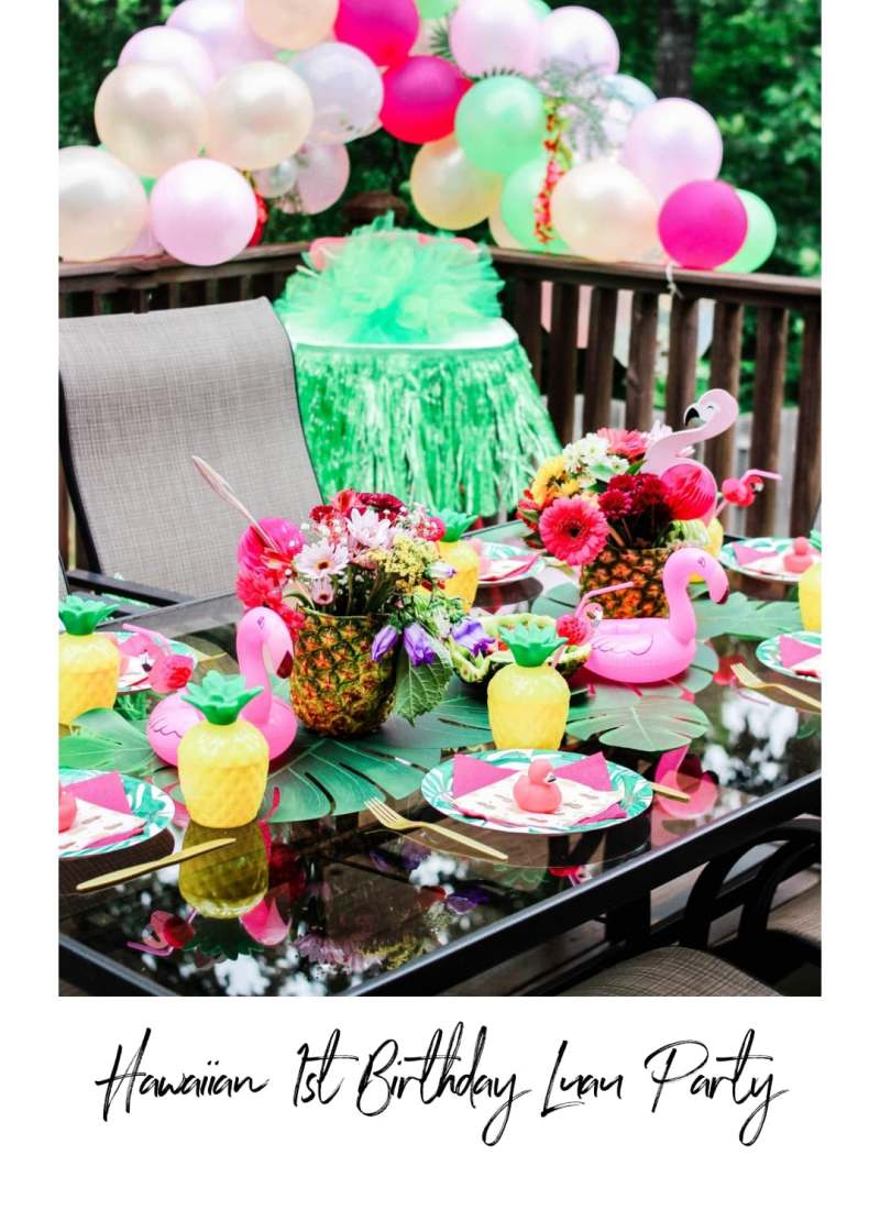 Hawaiian 1st Birthday Luau Party