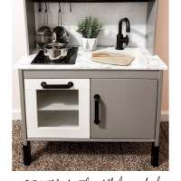 DIY Ikea Play Kitchen Hack