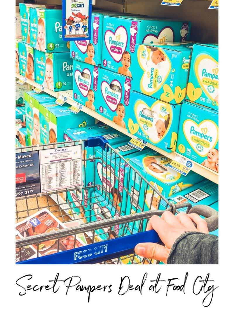 Secret Pampers Deal at Food City