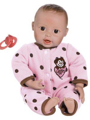 Giggle Time Baby Girl, Light Skin, Brown/Brown