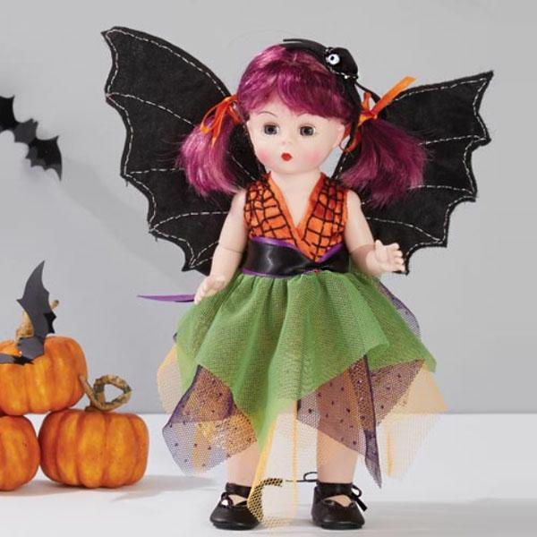 """Boo-tifully Batty Halloween Holiday Collection Approx. Size: 8"""" Dressed Doll"""
