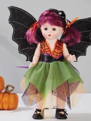 "Boo-tifully Batty Halloween Holiday Collection Approx. Size: 8"" Dressed Doll"