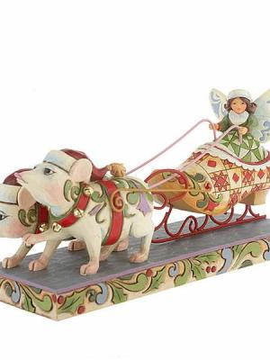 Fairy in Shoe Sleigh