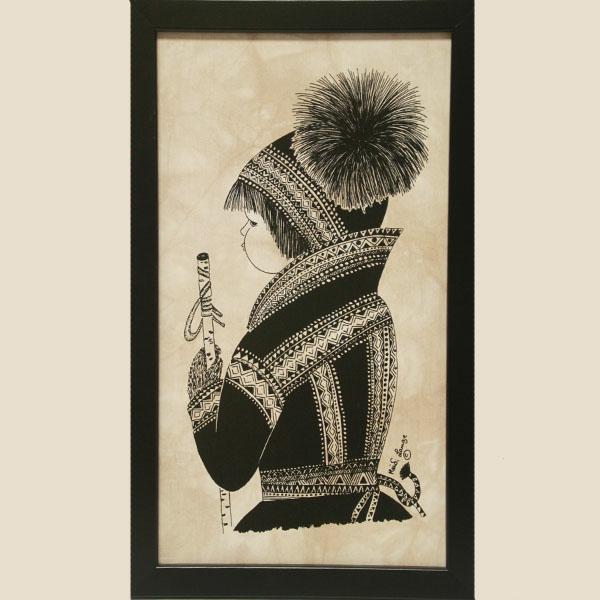 Batik, Sami Boy - Framed