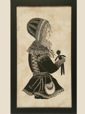 Batik, Sami Girl - Framed