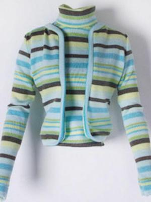 Cabana Stripe Green Sweater Set