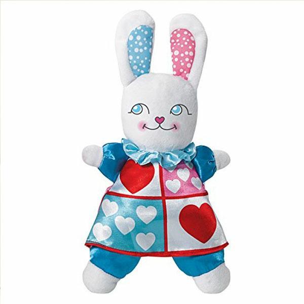 """White Rabbit Plush, 8"""""""
