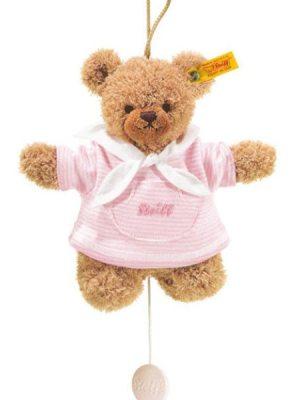 Sleep Well Bear, Pink with Music Box