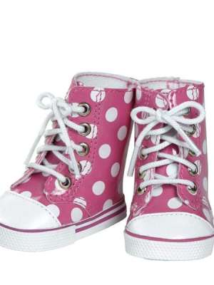 Pink/White Polka Dot High Tops