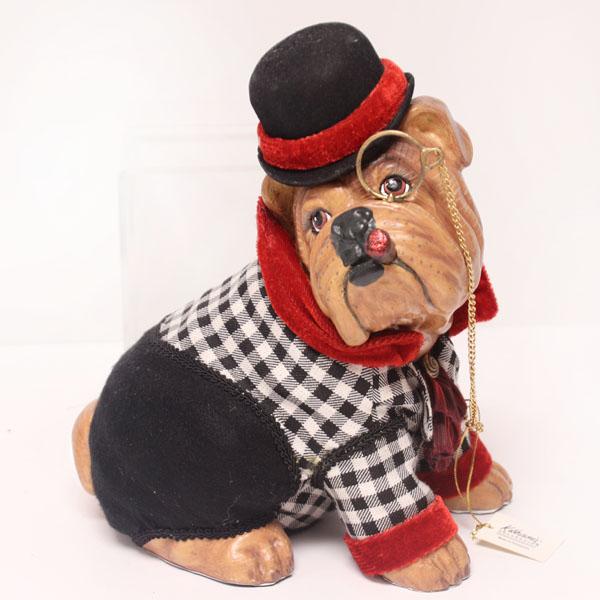 Sitting Smoking Bulldog