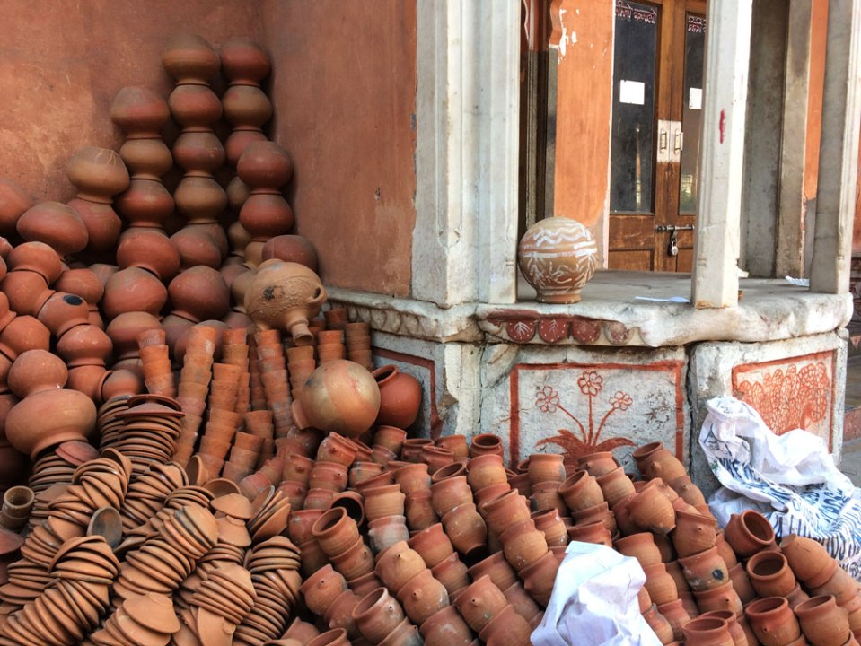jaipur - pile of clay pots