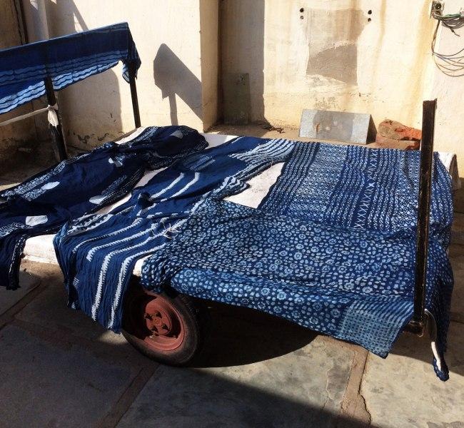 Indigo Dyeing with block printed mud resist – samanthasews blog