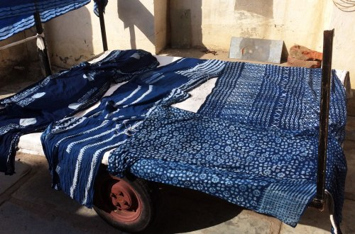 Indigo Dyeing with block printed mud resist – samanthasews blog