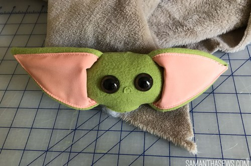baby yoda custom plush - progress shots