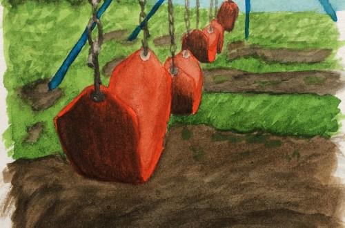 Watercolor swingset