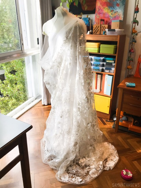handmade wedding dress lace fabric
