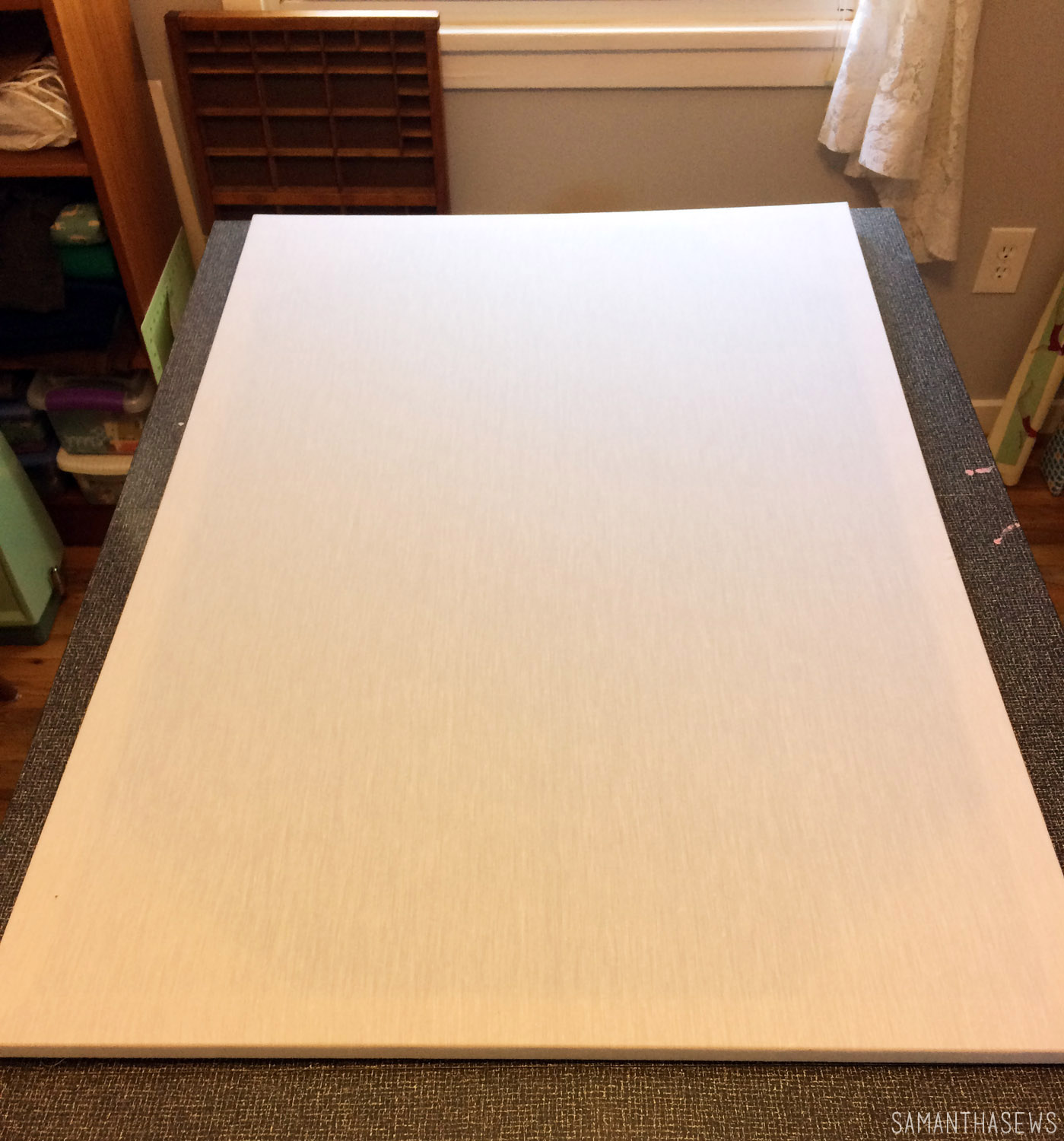 re-cover an ikea canvas for wall art