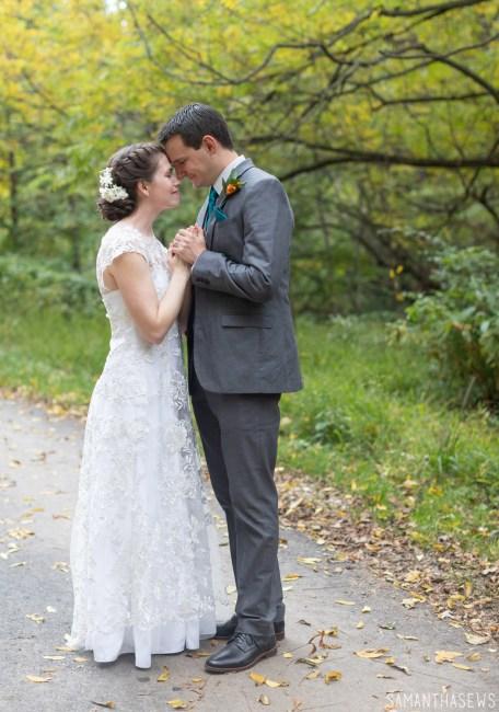 handmade lace wedding dress