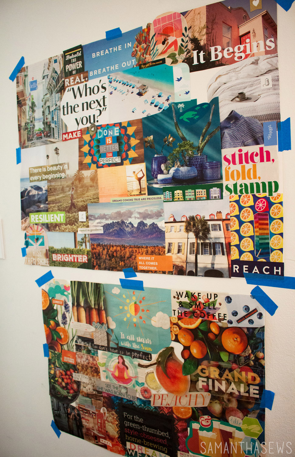 sewing room vision board