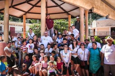 Group photo at the gazebo