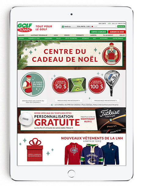 Golf Town Holiday Gift Centre 2015 - French