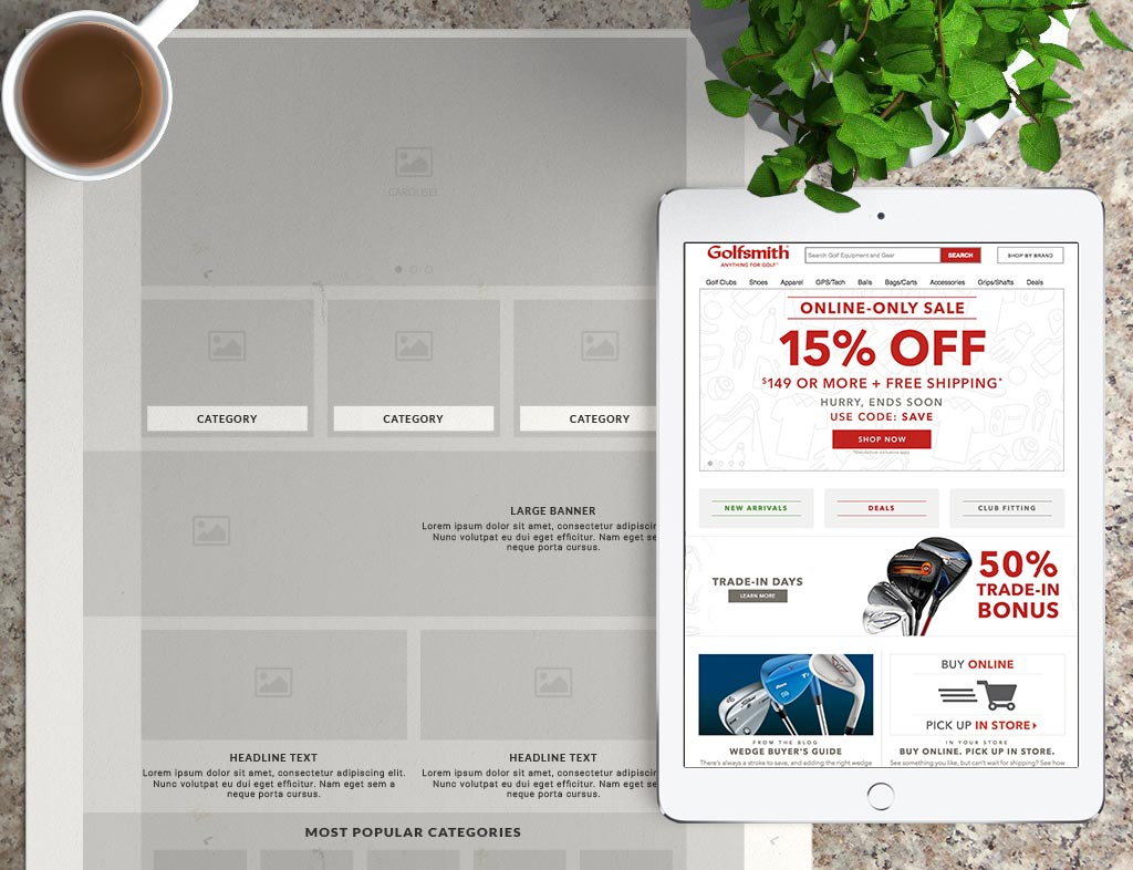 Golfsmith Home Page Enhancements