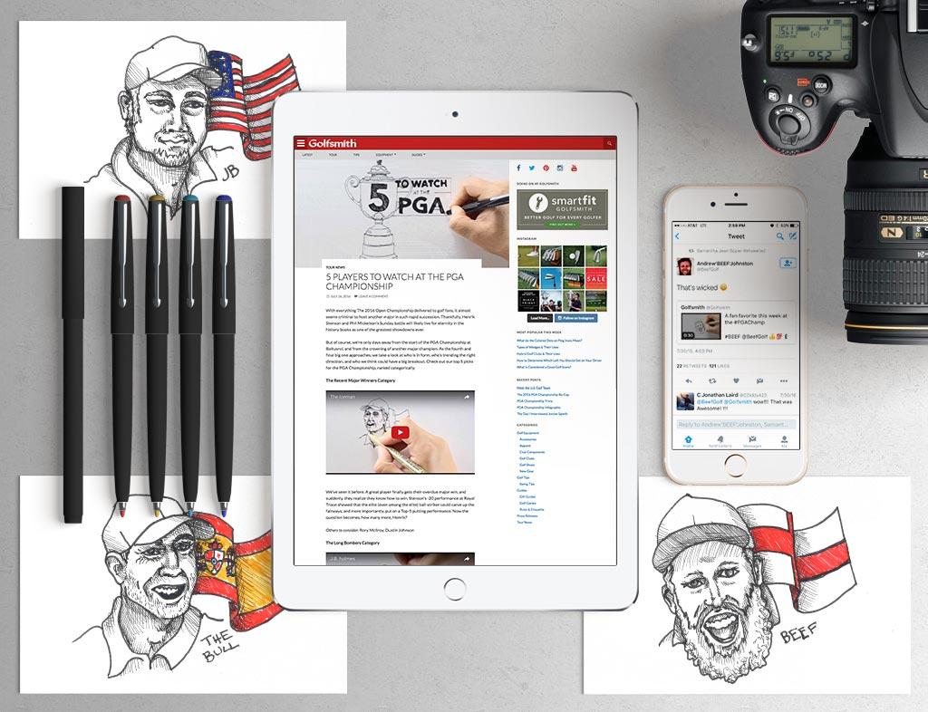 PGA Pro Sketch Videos