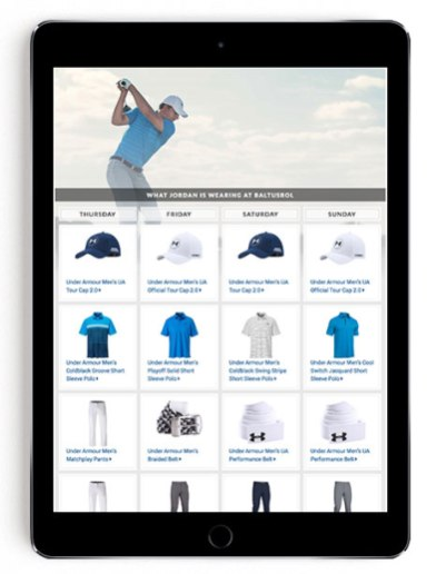 Jordan Spieth PGA Championship scripting on Golfsmith