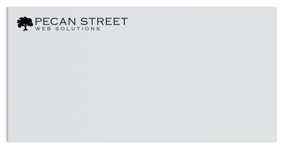 Envelope with Horizontal Minimal Logo
