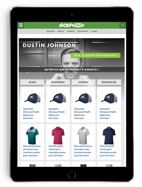 Dustin Johnson Masters scripting on GT Blog in French