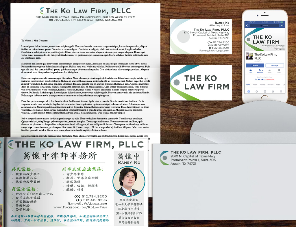 The Ko Law Firm Brand Identity Kit