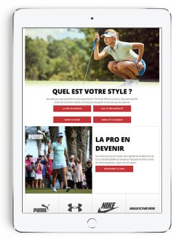 iPad Women's Golf Look Book in French
