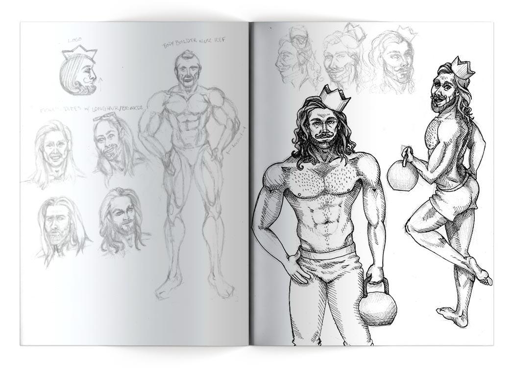 Studies & Concept Sketch