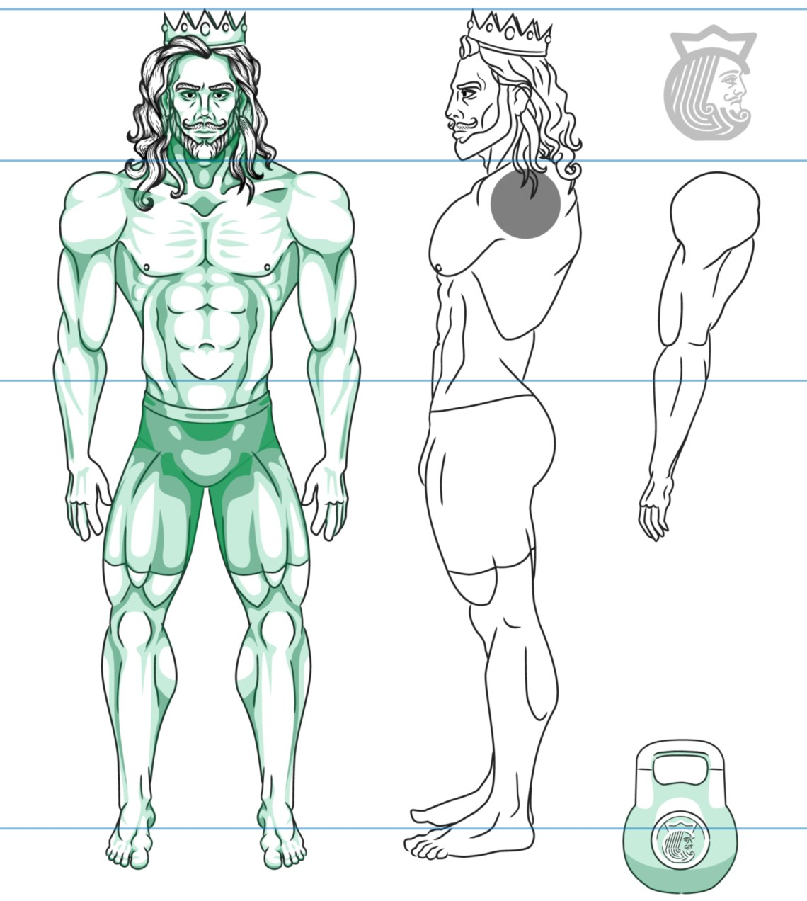 Kettlebell King Model Sheet