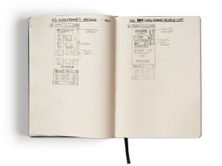 Archive Page Wireframe Sketch Options