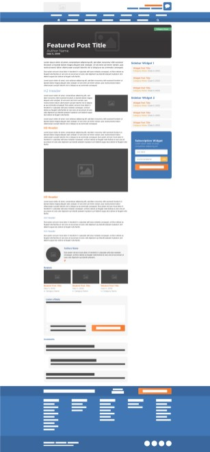 HostGator Blog Single Post Final Wireframe