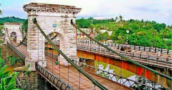 Punalur Suspension Bridge is one of the highlights of Kollam district