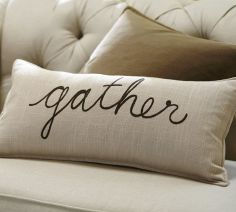 Lumbar pillow cover, Pottery Barn, $39.50