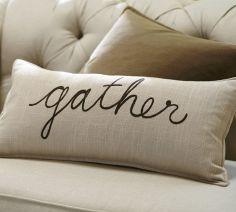 Lumbar pillow cover, Pottery Barn, $39.50