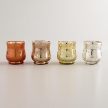 Mercury glass votive candleholders, World Market, $15.96