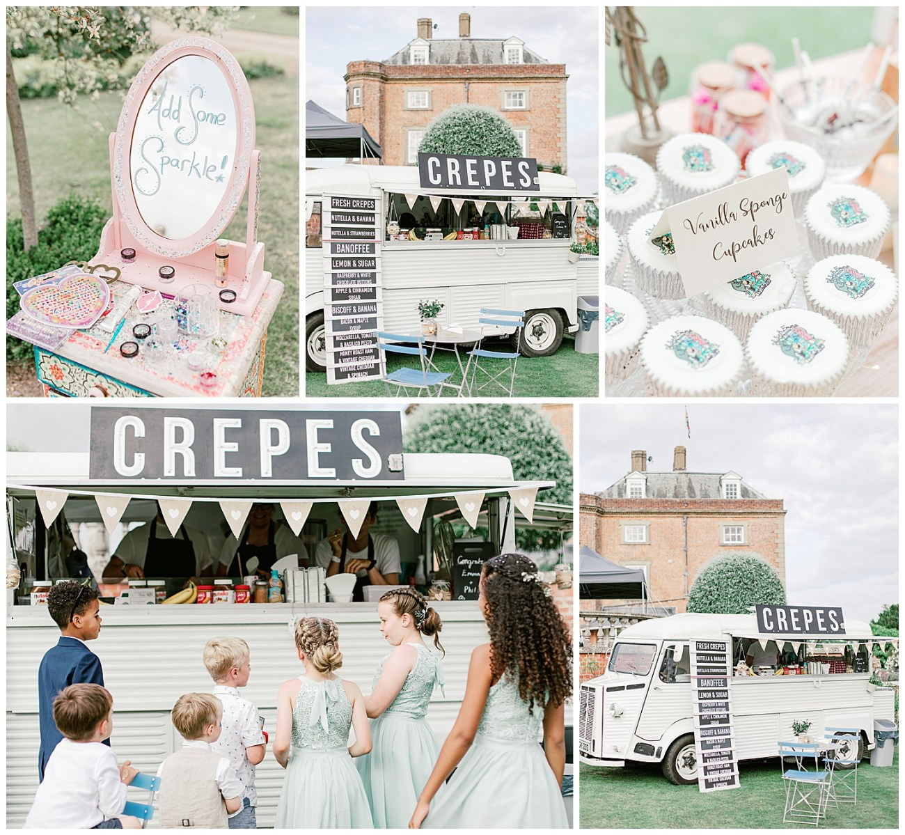 Crepe Truck - St Clere Estate - Kent England UK Garden Wedding