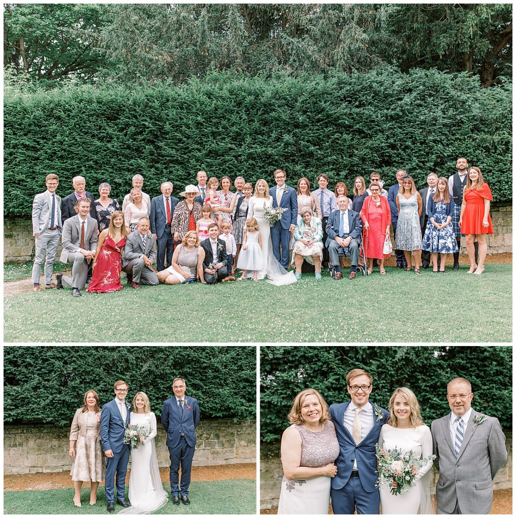 Chiddingstone Castle Group Picture Wedding