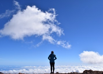 Above the clouds at the summit!